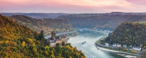 Enchanting Rhine River At A Glance
